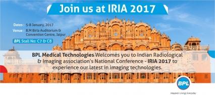 BPL MedTech at IRIA 2017, Jaipur – January 5 to 8, 2017
